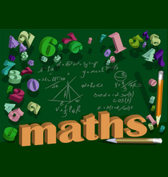 Maths background with number vector