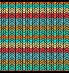 multicolor striped knitted seamless pattern vector image