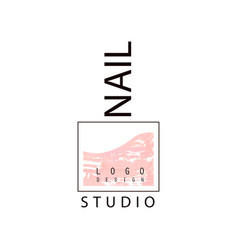 Nail studio logo creative template for nail bar vector