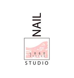 Nail studio logo creative template for nail bar vector