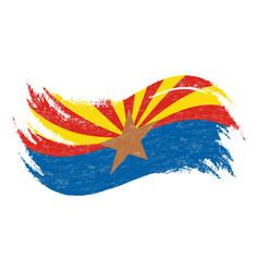 national flag of arizona designed using brush vector image