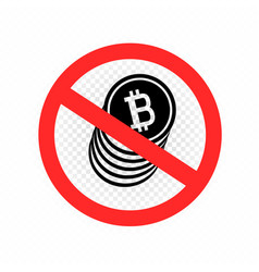 no crypto currency sign symbol icon vector image