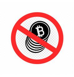 no crypto currency sign symbol icon vector image