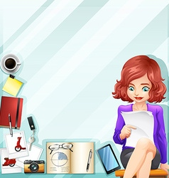 Office worker and other accessories vector