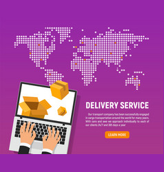 online delivery service of good vector image