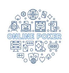 Online poker circular in vector