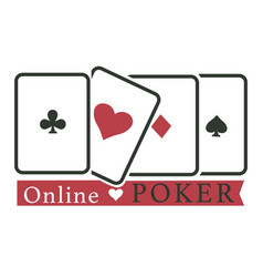 Online poker club casino gambling play cards vector