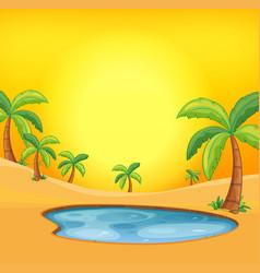 Orange hot desert background vector