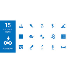 pattern icons vector image