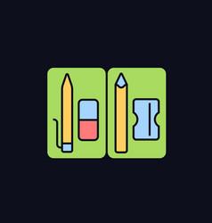Pencil pouch rgb color icon for dark theme vector