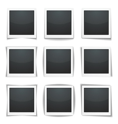 Photo Frames with Shadows vector image