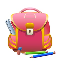 School bag and pencils vector