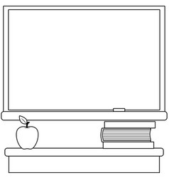 school classroom with a chalkboard vector image