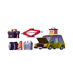 set car repair shop auto maintenance vector image
