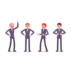 Set of four business male characters vector image