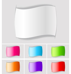 set of paper labels vector image