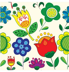 simple floral print vector image