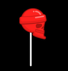 Skull lollipop candy skeleton head mortal vector