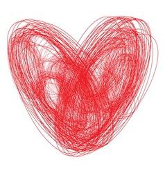 Srce sarano vector image