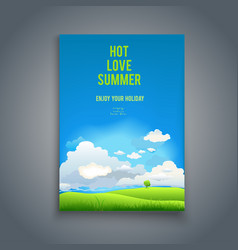 summer template with tree vector image
