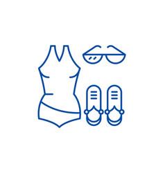 swimwear line icon concept swimwear flat vector image