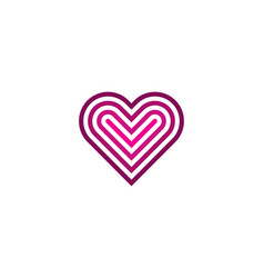 target love logo icon design vector image