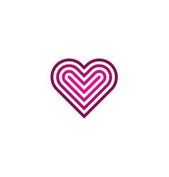 Target love logo icon design vector