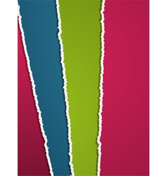 Torn coloured paper vector