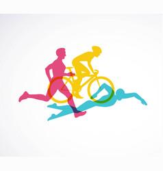 Triathlon flat design vector