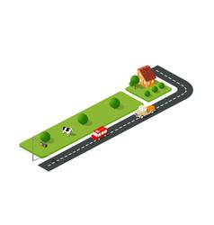 urban street road vector image