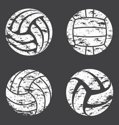 Volleyball grunge set vector