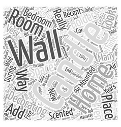 wall mounted candle holders Word Cloud Concept vector image