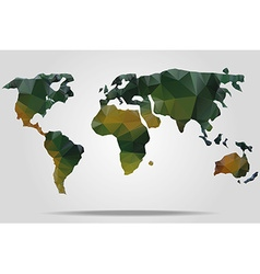Watercolor world map vector image