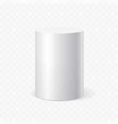 White cylinder on transparent background vector