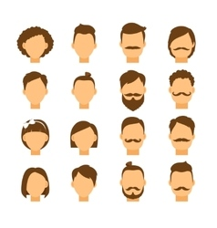 Women hairstyle and men hair style hipster vector