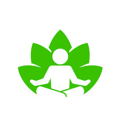 yoga fitness icon lotus position on white vector image