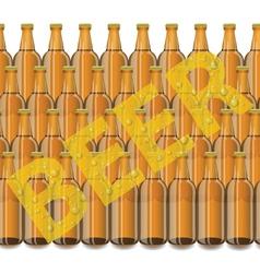 beer bottles vector image vector image