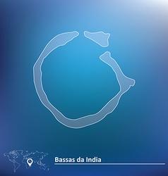 Map of Bassas da India vector image