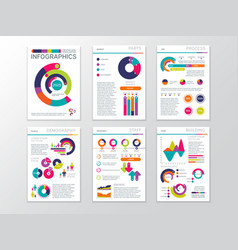modern business presentation documents with vector image vector image