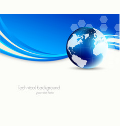 Abstract science background vector image vector image