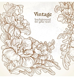 Decorative vintage frame with graphic pictures of vector image vector image