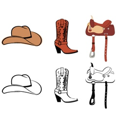 Set Of Clothes Of The Cowboy vector image vector image