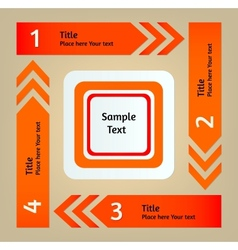 Set of infographic arrows and stickers vector image vector image