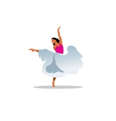 Choreography sign Young beautiful dancer girl in vector image