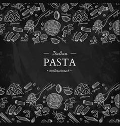 italian pasta restaurant vintage vector image