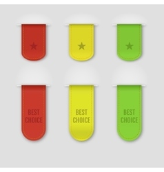 Set of isolated ribbons on grey background vector image