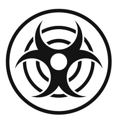 Sign of biological threat icon simple style vector