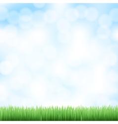 spring sky background vector image
