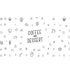 White background with drawings by hand of food vector