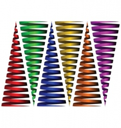 cone ribbons against white vector image